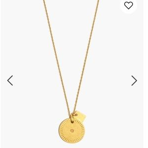 Madewell Jewelry - Etched Coin Necklace